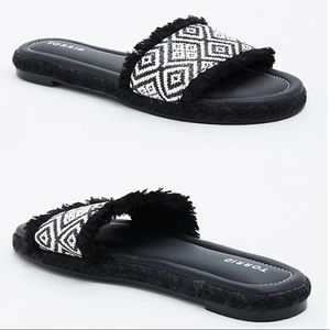 NWT Torrid Tribal Espadrille Slide Sandals